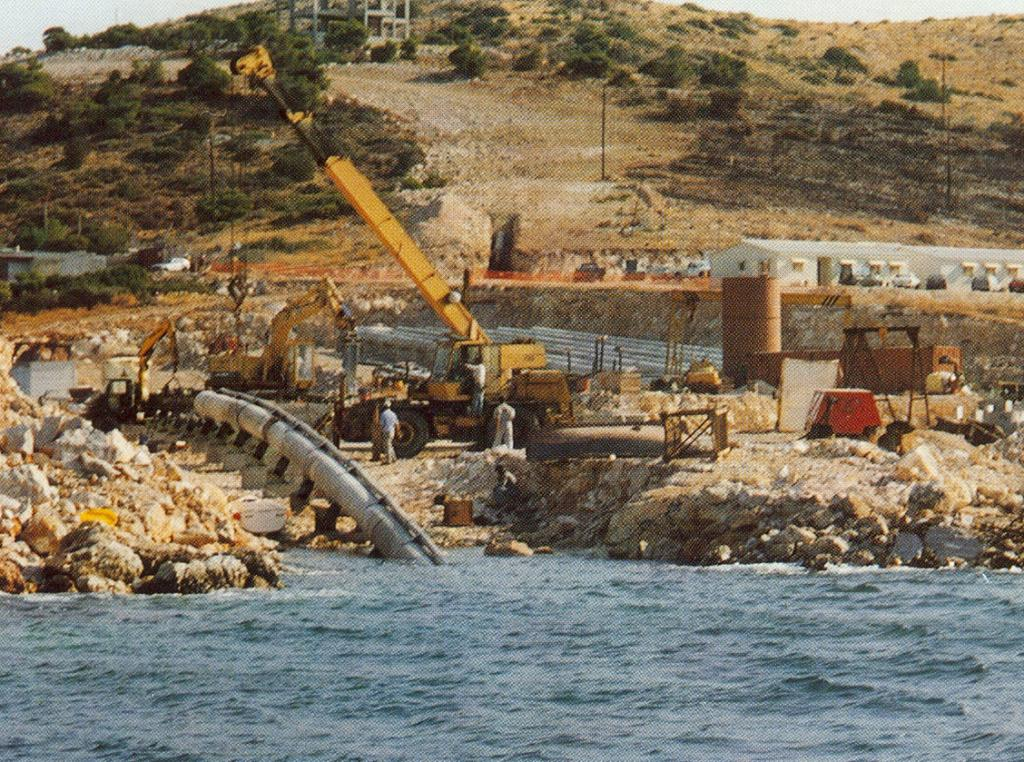 2. Natural Gas submarine pipelines Agia Triada - Revithoussa