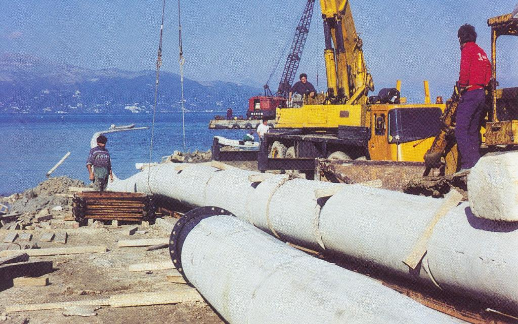 6. Construction of the Submarine Pipeline for the sewage effluent of Corfu island